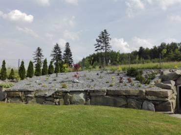 Soukromá zahrada s kamenem